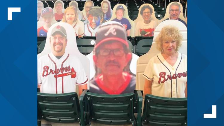 Family buys cutout of deceased father to appear at Atlanta Braves game