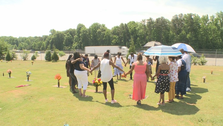 Christopher Starks remembered at gravesite