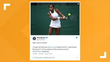Georgia-born teen Coco Gauff qualifies for Wimbledon