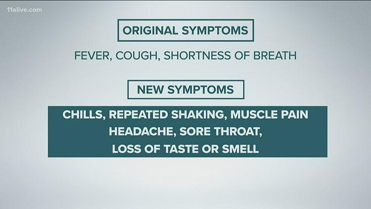 New COVID-19 symptoms added by CDC