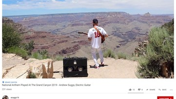 Watch Atlanta guitarist play the national anthem on the edge of the Grand Canyon