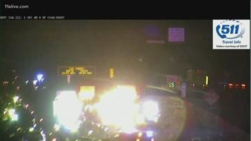 I-285 wreck involved ambulance taking infant to hospital who