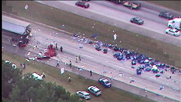 Serious crash spills brake rotors across I-20