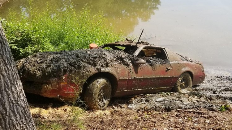 Stolen Firebird found in Cobb County lake on Aug. 13, 2019