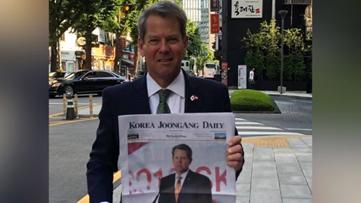 Brian Kemp makes first international trip to South Korea to lure more business to Georgia