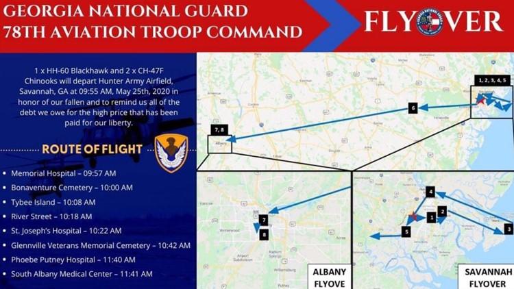 South Georgia National Guard Memorial Day Flyover