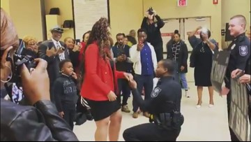 She said yes! New DeKalb officer pops the question at his police academy graduation