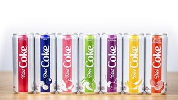 Coca-Cola adds two new flavors to Diet Coke brand
