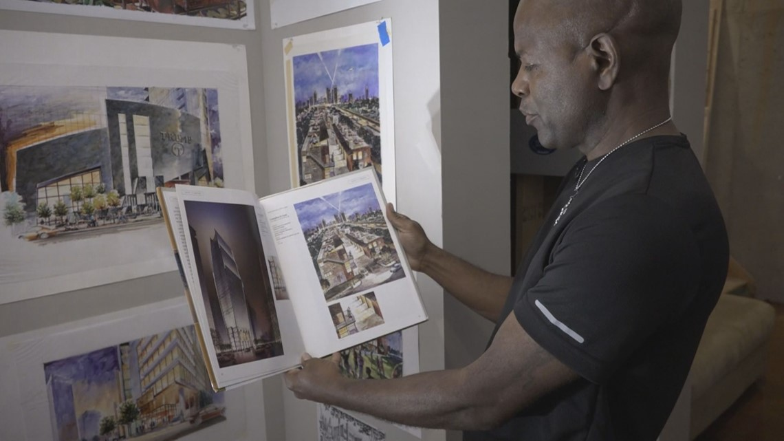 He hid his art talent for 50 years. Now he's sharing it with the world as he fights brain cancer.