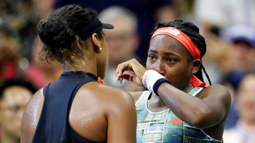 Osaka consoles teary Gauff, 15, after beating her at US Open