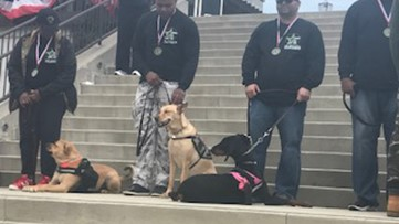 Service dogs graduate for 15 veterans in special ceremony